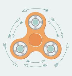 fidget spinner vector image