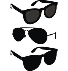 set of fashionable sunglasses vector image vector image