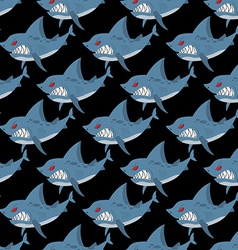 Shark seamless pattern Many angry ferocious marine vector image vector image