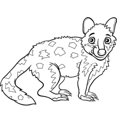 tiger quoll animal coloring book vector image vector image