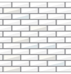 White brick wall seamless pattern vector