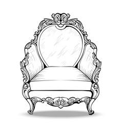 Exquisite imperial baroque armchair in luxurious vector