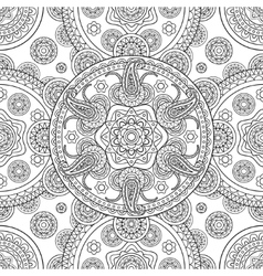 Indian hand drawn seamless background vector image vector image