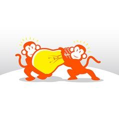 Monkey Idea Teamwork vector image