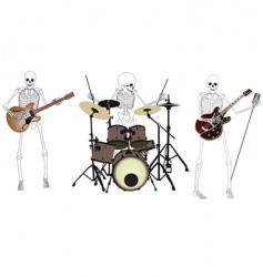 skeleton band vector image vector image
