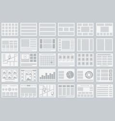 website flowcharts layouts of tabs infographics vector image