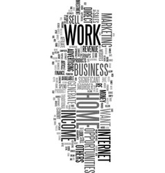 work at home income opportunities text word cloud vector image