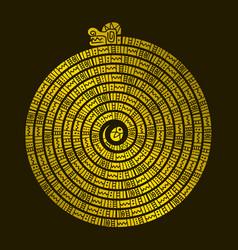 aztec animals mayan snake ancient mexican design vector image vector image