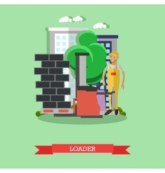 Construction loader concept vector image