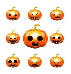 Happy halloween pumkin isolated on white vector image