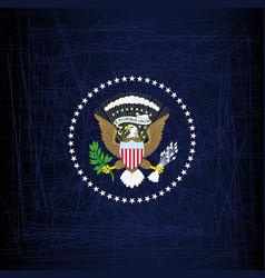 president seal eagle vector image