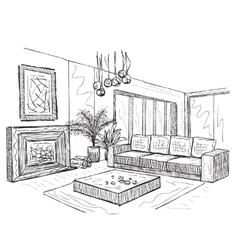Sketch of an interior vector image