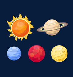 space planets star vector image