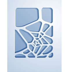 Abstract voronoi design background vector