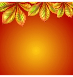 An orange wallpaper with leaves vector