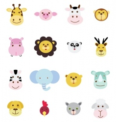 animals icons vector image vector image