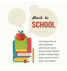 back to school read the books concept background vector image
