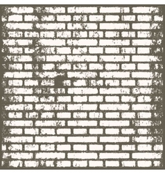 Background of old vintage dirty brick room vector