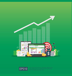 Big data analysis on screen seo analytic or vector