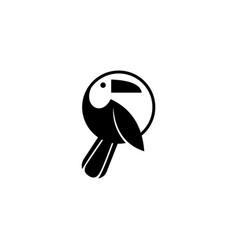 bird parrot logo vector image