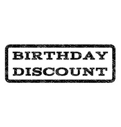 birthday discount watermark stamp vector image