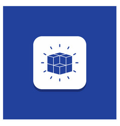 Blue round button for box labyrinth puzzle vector