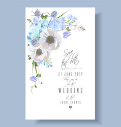 blue save the date card vector image