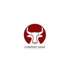 bull horn logo and symbols template vector image