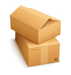 Cardboard boxes for mail vector image vector image