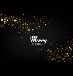 christmas background with gold glitters background vector image