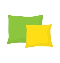 Colored pillow cushion vector
