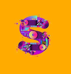 Colorful alphabet font letter s for logo vector