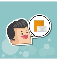 Communication design Social media icon mail vector