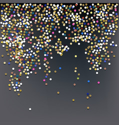 confetti new years celebration background vector image vector image