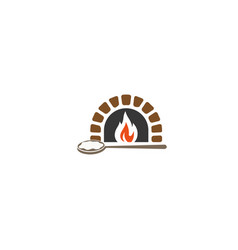 creative traditional oven logo vector image