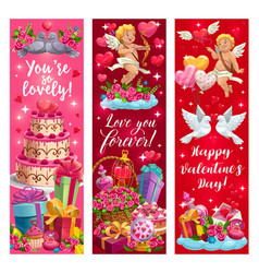 Declarations love happy valentines day cards vector