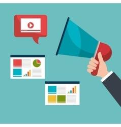 Digital marketing and online advertising vector