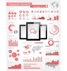 Digital Tablets Infographic Elements vector