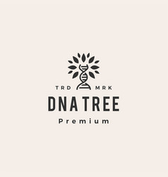 dna tree hipster vintage logo icon vector image