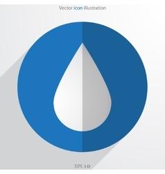 drop web flat icon vector image