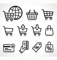 ecommerce icons symbol set vector image