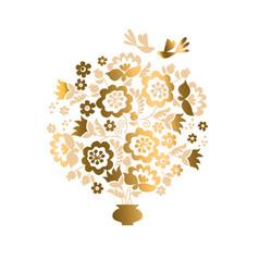 elegant luxury floral design element vector image