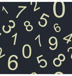 Endless pattern numbers vector image