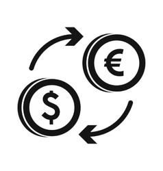Euro dollar euro exchange icon simple style vector image