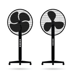 Fan icon set vector