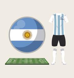 football argentina sport wear vector image