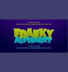 franky comics alphabet font typography comic logo vector image