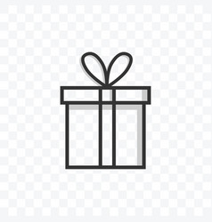 Gift box icon on transparent background vector