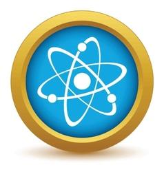 Gold atom icon vector