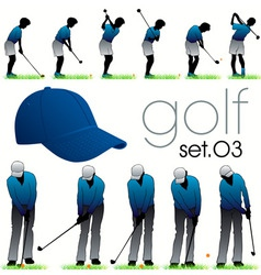 Golf players poses vector